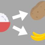 炭水化物を置き換える。お米から果物・お芋を使おう